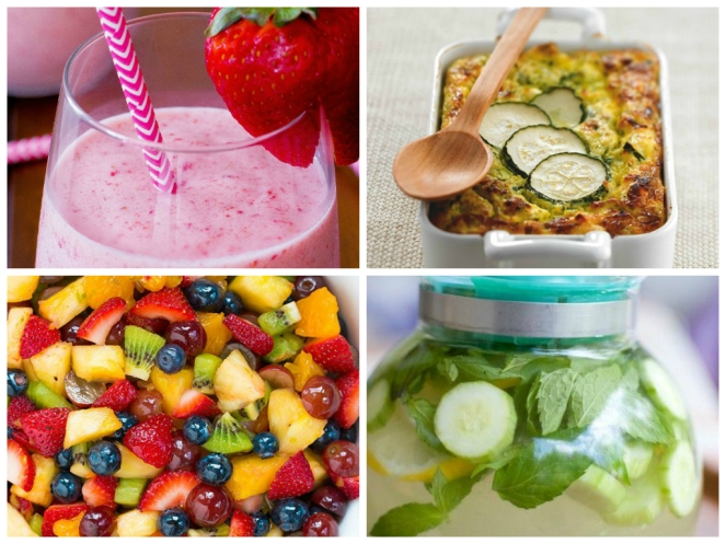 Smoothie, vegetables, fruits and detox water - Pinterest © Heidi Campbell / Vieve H / Damn Delicious / Lisa Bartlett