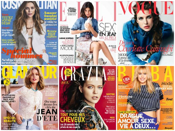 Cosmopolitan, Elle, Vogue, Glamour, Grazia, Biba. - April/May 2015.