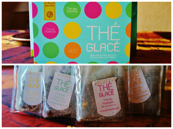 Iced Tea box and tea bags - Le Palais des Thés