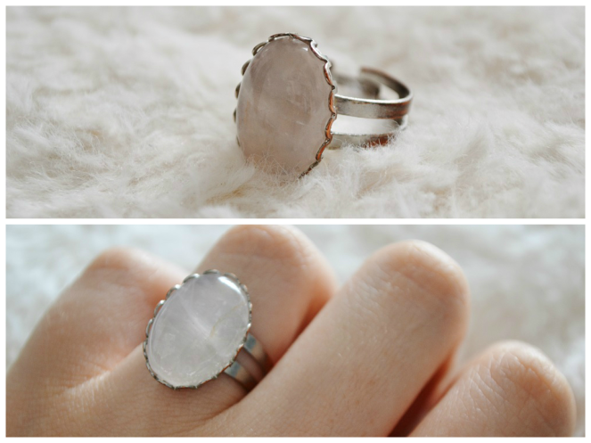 Pink Quartz Ring - Kassydix
