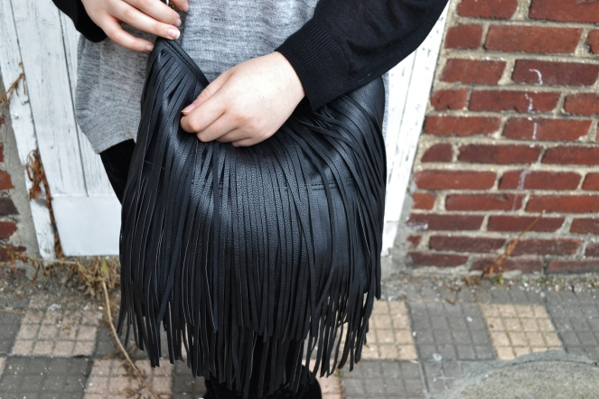 ootd fringed bag