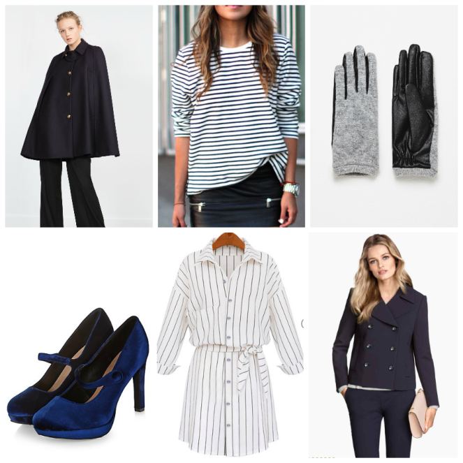 navy look fashion ootd trend