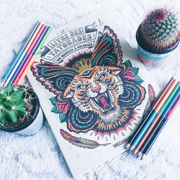 coloriage tatouage dessin