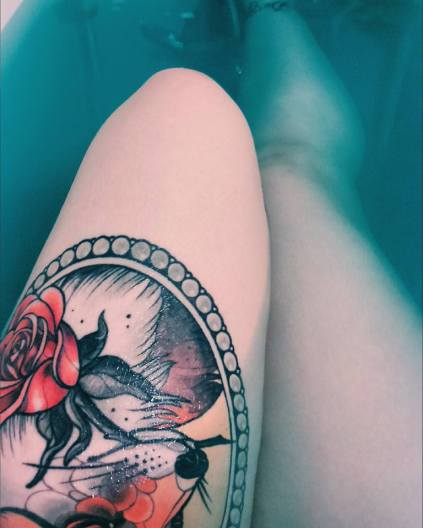 tatouage bain