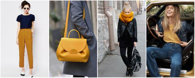 mode moutarde couleur automne