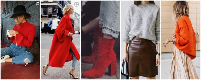 rouge mode orange couleur automne hiver 2017 tendance