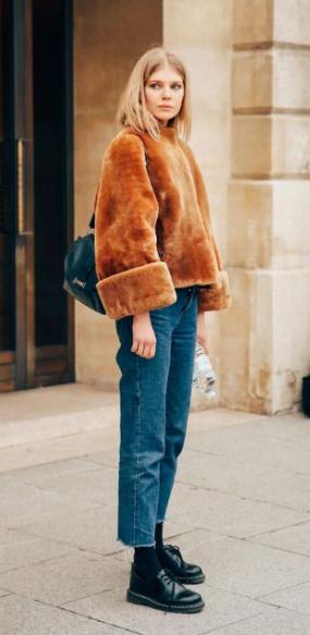 mode hiver femme pinterest fourrure