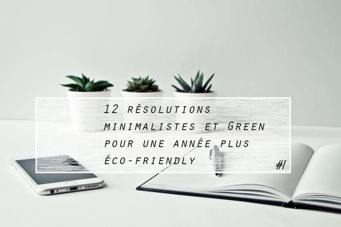 résolutions minimalistes écologiques green year